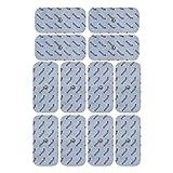 12 Elektroden/Pads 100x50mm. (passend zu Sanitas SEM 40/41/42/43/44 und Beurer EM 40/41/49/80)