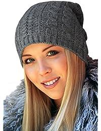 TRAC-5 - oversized Long Beanie Strickmütze Wollmütze Wintermütze Herrenmütze Skimütze Snowboardmütze Damenmütze Damen Wintermützen Slouch grau dunkelgrau navy natur weiss