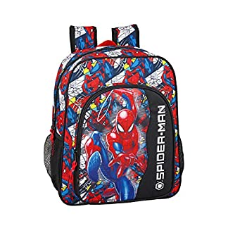 "51jVmkszroL. SS324  - Spiderman ""Super Hero"" Oficial Mochila Escolar Junior 320x120x380mm"