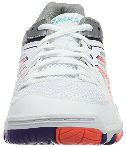 Asics Damen Gel-Task W Volleyballschuhe Weiß (white/flash Coral/parachute Purple)