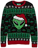 Ugly Christmas Sweater Alien Strick-Sweater