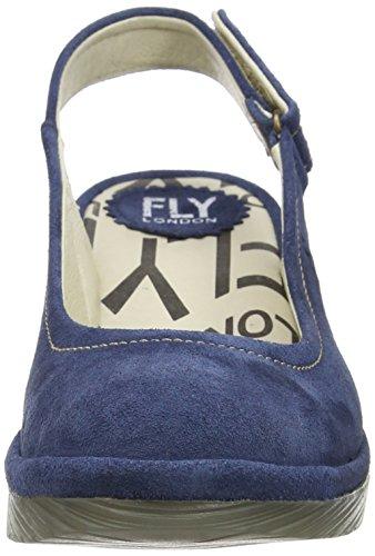 FLY London Damen Pype Slingback Sandalen Blau (Ocean)