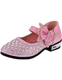 Sibafe - Zapatos de vestir de Material Sintético para niña