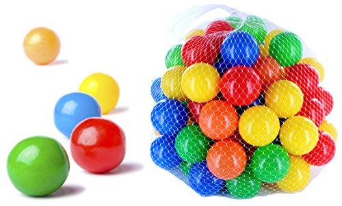 250 Stück bunte Bälle für Kinder, Babys und Tiere , 55mm Durchmesser Kinder ab 0