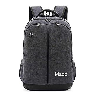 maod multifunción Hombre Business Laptop Backpack impermeable Mochila Escolar grande Nylon Mochila para portátil 15.6pulgadas con Multi de bolsa, gris (Gris) – QN-bb-10-2