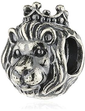 PANDORA Charm König der Tiere Silber