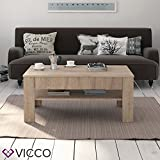 VICCO-Couchtisch-mit-Schublade-Eiche-Sonoma-110-x-65-cm-Wohnzimmertisch-Beistelltisch-Kaffeetisch-Holztisch