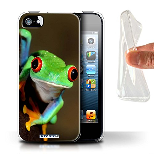 Coque Gel TPU de Stuff4 / Coque pour Apple iPhone 4/4S / Girafe Design / Animaux sauvages Collection Grenouille