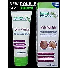 Vena Vanish–Herbal Skin Doctor–XL 100ml Tubo–profesional de la fórmula que reduce drásticamente la apariencia de las venas de araña, capilares rotos y contusiones, sin dolor y en semanas.