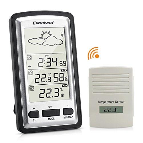 Excelvan WH1281 Stazione Meteo Digitale Wireless con Sensore Controlla la