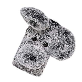 Weichem Plüsch Hund Gemusterte Telefonkasten Cute Fashion Winter Warm Halten Pelz Stoßfest Handy Cover Shell für Sony Xperia XA2