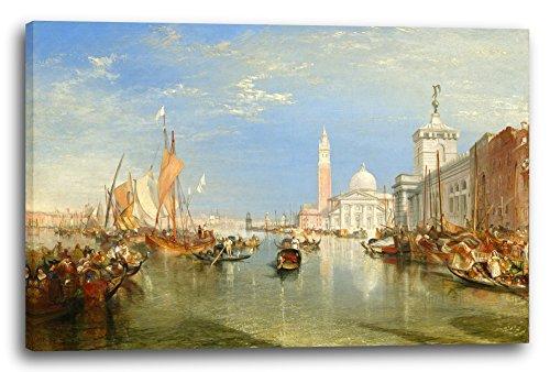 William Turner (Printed Paintings Leinwand (80x60cm): William Turner - Venice: The Dogana and San Giorgio Maggior)
