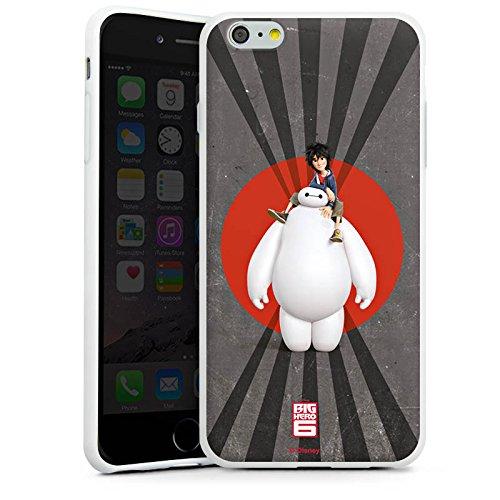 Apple iPhone X Silikon Hülle Case Schutzhülle Disney Baymax und Hiro Merchandise Zubehör Silikon Case weiß