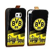 DeinDesign Tasche Hülle Flip Case kompatibel mit Samsung Galaxy S6 Edge BVB Logo Borussia Dortmund