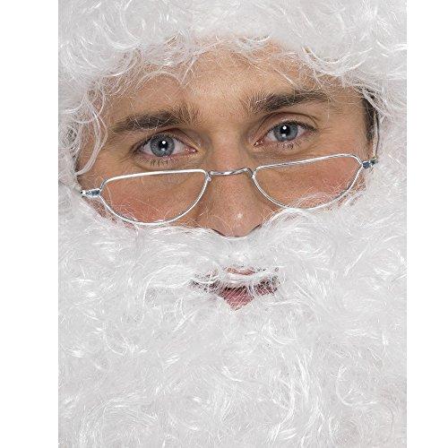 Smiffys Gafas de media luna de Papá Noel, Plateadas