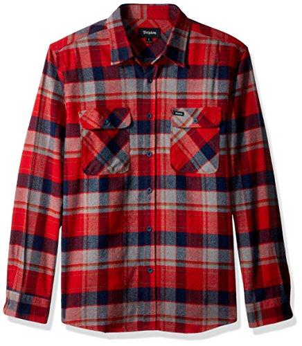 Brixton Herren Apparel Bowery L/S Flannel red/heather grey/Navy
