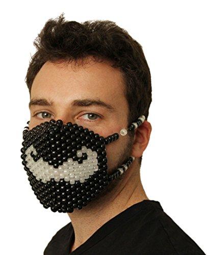 stache Kandi Mask by Kandi Gear, rave mask, halloween mask, beaded mask, bead mask for music fesivals and parties (Kandi Halloween)