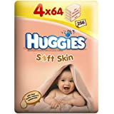 Huggies Soft Skin Wipes 4 x 64 per pack