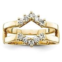 IceCarats Designer Jewellery Size L 1/2 14K Aa Diamond Guard