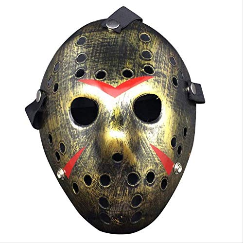 Wbdd Maske Vintage Party Cosplay PVC Jason Freddy Hockey Maske Zart Dick Kostüm Maskerade Maskeus Halloween Maske c