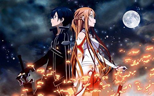 Sword Art Online Poster On Silk - Soie Affiche - 25EFD7