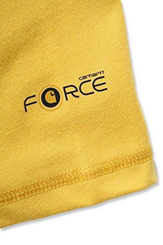 Carhartt Funktionsshirt Force mit Frontlogo Gelb