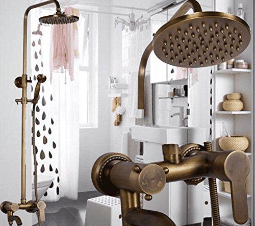 MGADERO Wasserhahn Bad Mischbatterie Antike Dusche set Messing Düse Warmes und kaltes Wasser Messing Retro Waschtisch Armatur für Badzimmer Waschbecken