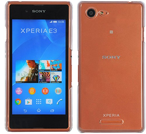 Xperia E3 Dual Cover, CUBIX® (Never Turn Yellow) Clear transparent hard case Back Cover for Sony Xperia E3 Dual  available at amazon for Rs.350
