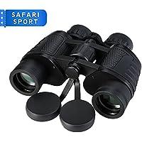 Pictek Jumelles Optiques SAFARI/SPORT/THEATRE 8*35 Zoom à Prismes BaK-4 Avec Etui (Noir)