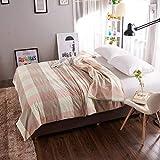FuweiEncore Einfarbiger Baumwollbettbezug, Gitter einfach warm halten Bettbezug, Weiche, atmungsaktive Bettbezug Einzelbetten - 248 x 248 cm (98 x 98 Zoll) (Farbe : Q, Größe : 150x215cm(59x85inch))