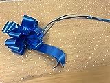 2m x 80cm Pois Bianchi Carta Regalo In Cellofan (piegato). Include 1 x Blu Royal 50mm Pull Bow. Fioraio qualità / Bouquet / regalo / Per Confezione Cesti