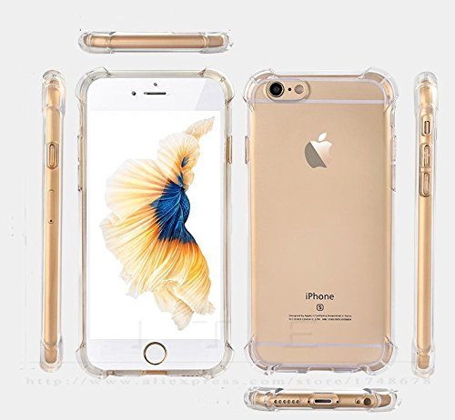 Tarkan Protective Soft Transparent Bumper Back Case Cover For Apple iPhone 6 & 6s 4.7 inch [Advanced Shock Resistant Corners]  available at amazon for Rs.149