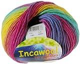 Hjertegan Incawool Wolle, in Regenbogenfarben