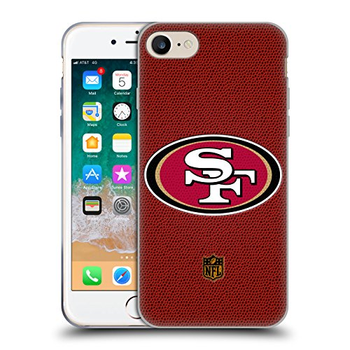 Head Case Designs Offizielle NFL Fussball San Francisco 49Ers Logo Soft Gel Huelle kompatibel mit iPhone 7 / iPhone 8