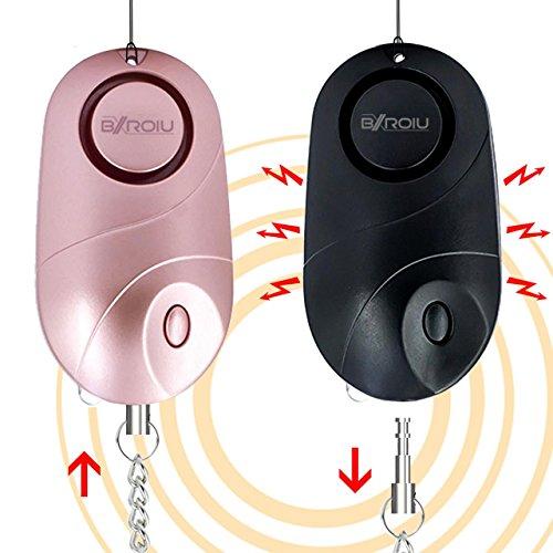 Bxroiu BXR0IU-CM Persönlicher Taschenalarm, 140dB Sirene Schlüsselanhänger, 2er pack (Tasche Possibles)
