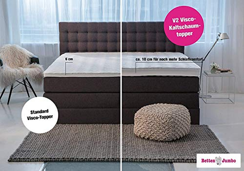 Boxspringbett mit Bettkasten King Luxus 7-Zonen Bild 6*
