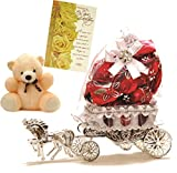 #5: Skylofts Beautiful Horse Chocolate Gift with a cute soft teddy & birthday card - 10 Pcs