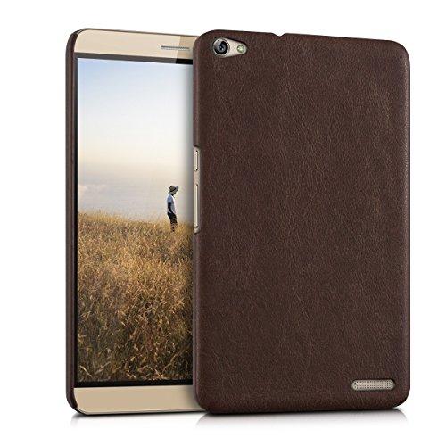 kwmobile Hardcase Tablet Hülle für Huawei MediaPad X2 7.0 mit Kunstleder-Bezug – Backcover Case Schutzhülle Cover in Dunkelbraun
