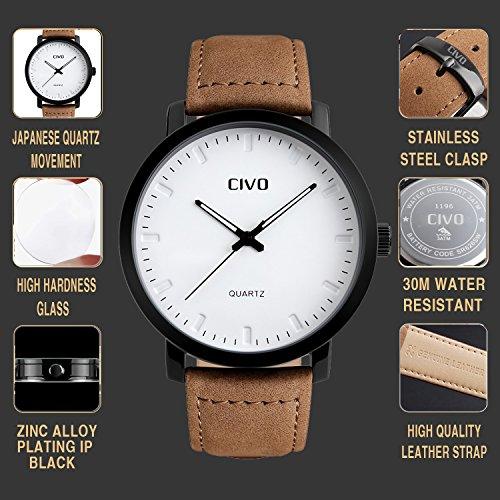 Schwarzer Beutel Echtes Leder Luxus 22 Armbanduhren Collector 22 Uhren Dauerhafter Service Uhren & Schmuck Armband- & Taschenuhren