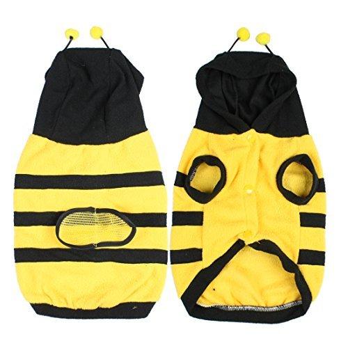 DealMux Fleece Kostüm Hummel Bee Coat Doogie Hundespielzeug-Kleidung Haustier- Größe 12 (Bee Hundespielzeug)