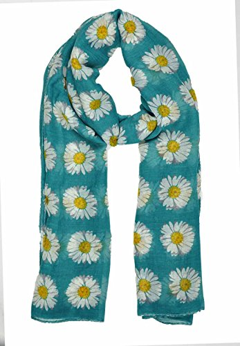 lady-womens-colorful-long-daisy-flower-print-scarf-wraps-shawl-soft-scarves-sc41-dark-turquoise