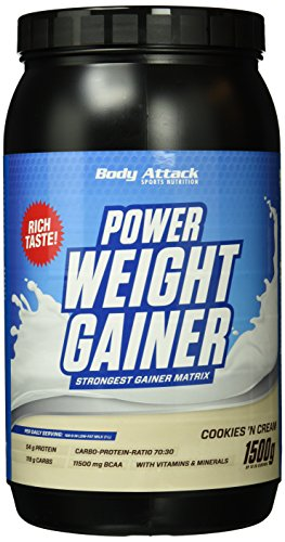 Body Attack Power Weight Gainer Cookies'n Cream