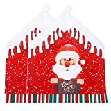 Huacat Weihnachts Stuhlhussen,Weihnachtsfest Ferien Stuhl Weihnachten Sets Stuhl Abdeckung Tisch Weihnachts Hussen für Esszimmer Home Party Dekoration
