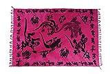 Ciffre Sarong Pareo Wickelrock Strandtuch Tuch Wickeltuch Handtuch Gratis Schnalle Schließe Gecko Pink