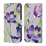 Head Case Designs Offizielle Kristina Kvilis Tulpen 1 Blumige Muster Brieftasche Handyhülle aus Leder für iPhone 6 / iPhone 6s
