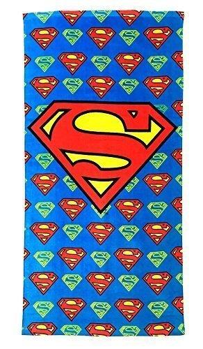 Strand Handtücher Kinder Sortiert Offizieller Star Wars Avengers Findet Dory Eiskönigin Batman Superman Peppa Pig Kinder Sommerurlaub - Superman-logo, 120x60cm (Pig Merchandise)