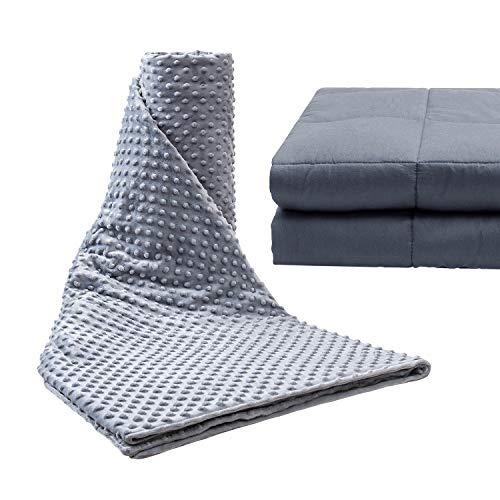 Anjee Therapiedecke Gewichtsdecke für Erwachsene Für Besseren Schlaf Schwere Decke Anti Stress - Beschwerte Decke für Angststörung