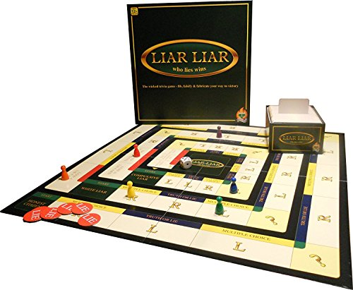 Liar Liar - Who Lies Wins - The Wicked Trivia Family Board Game - 2-6 Players - Ages 12 Plus