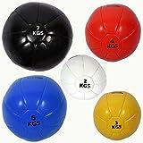 PU Medecine ball - Balle de fitness 2 kg, 3 kg, 4 kg, 5 kg, 7 kg - Ballon d'exercice en différentes couleurs POWRX (2 kg (Blanc))