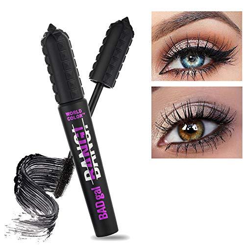 Cooljun 4D Silk Fiber Eyelash Mascara, Extra Long Lash Mascara Waterproof Not Blooming Curling Natural Eye Makeup Long Lasting